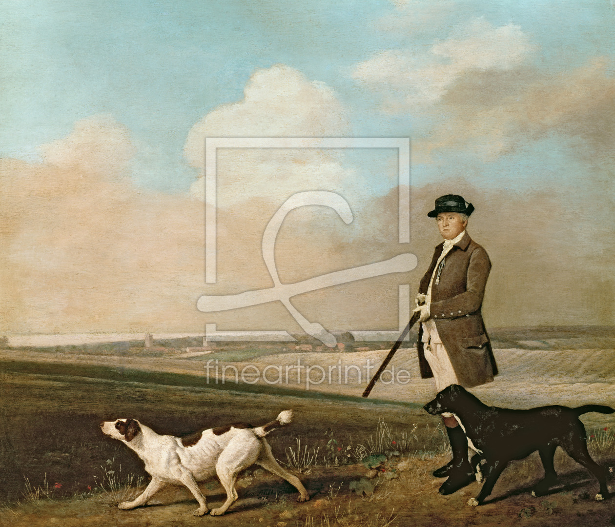 Bild-Nr.: 31001432 Sir John Nelthorpe, 6th Baronet out Shooting with his Dogs in Barton Field, Linc erstellt von Stubbs, George