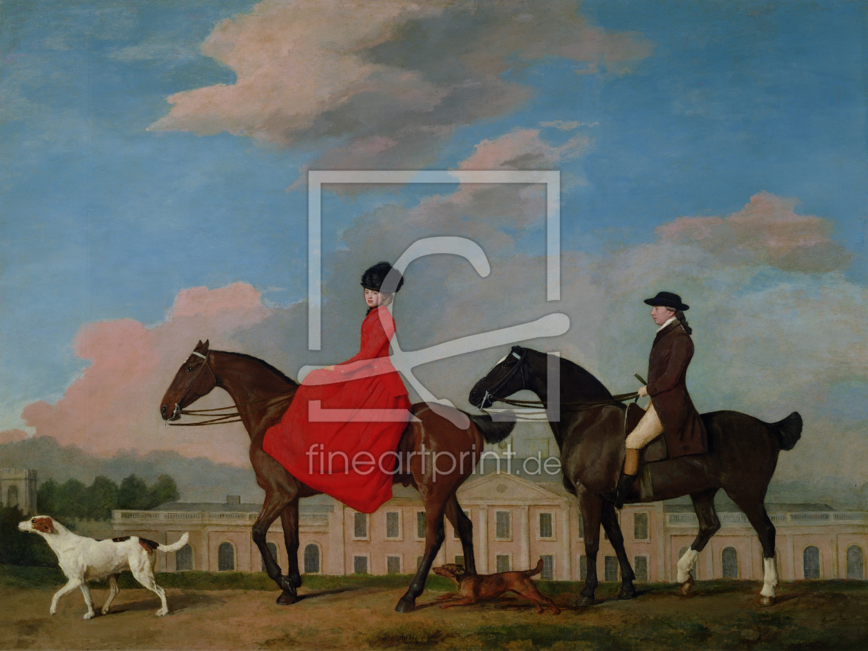 Bild-Nr.: 31001435 John and Sophia Musters riding at Colwick Hall, 1777 erstellt von Stubbs, George