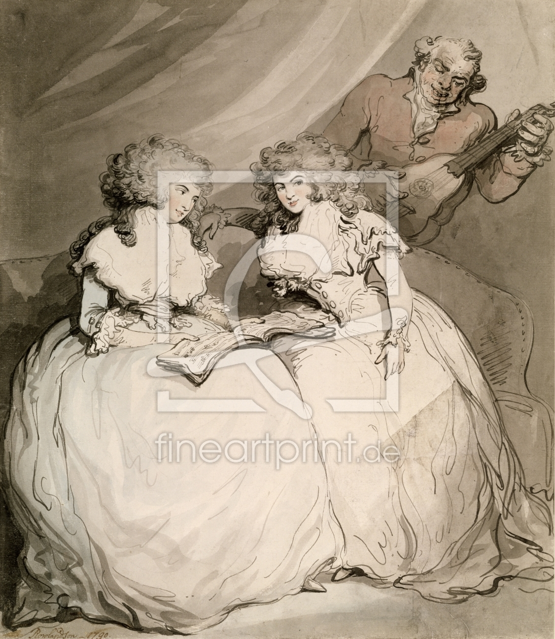 Bild-Nr.: 31001474 The Duchess of Devonshire and her Sister, the Countess of Bessborough erstellt von Rowlandson, Thomas