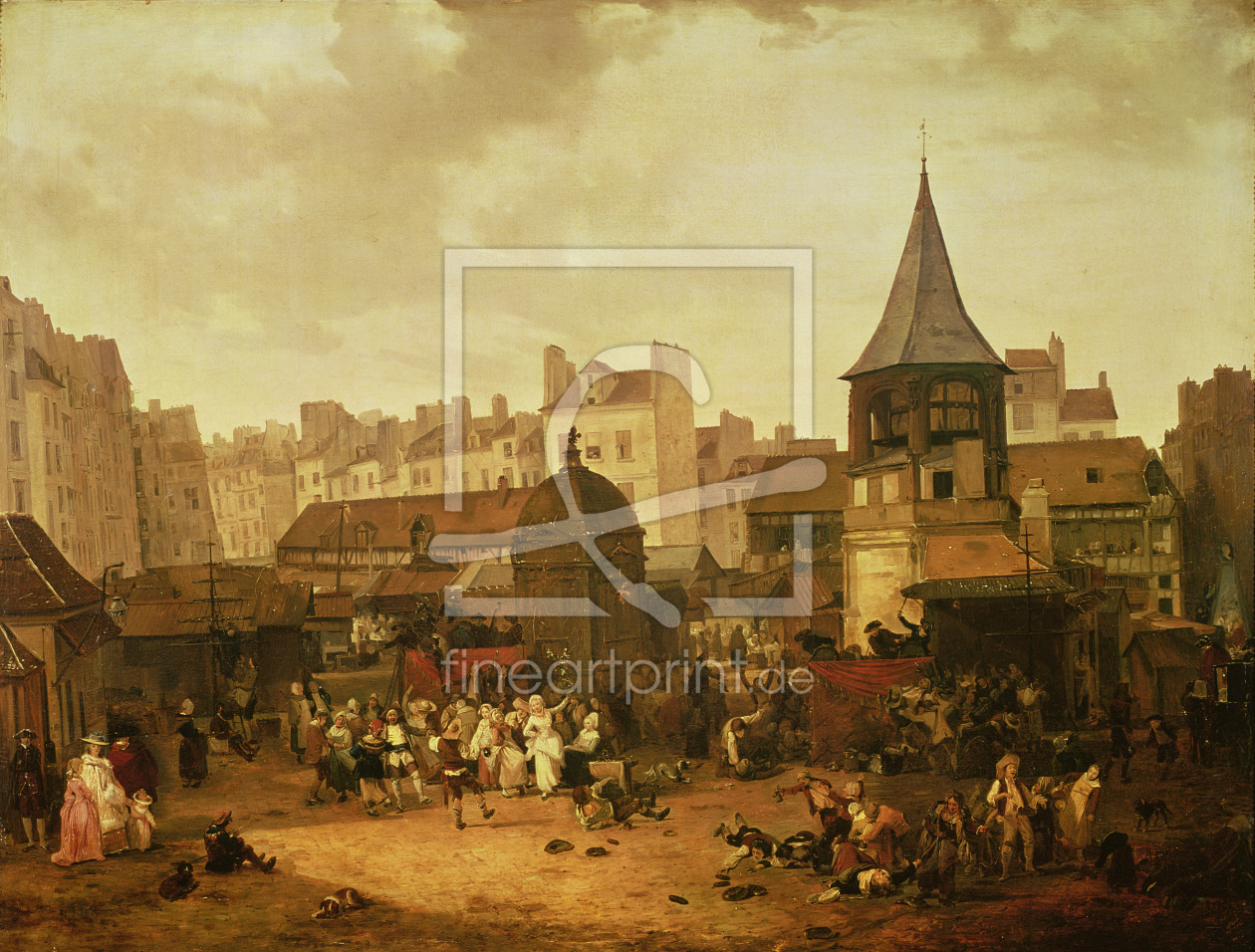 Bild-Nr.: 31001530 Rejoicing at Les Halles to Celebrate the Birth of Dauphin Louis of France 21st J erstellt von Debucourt, Philibert Louis