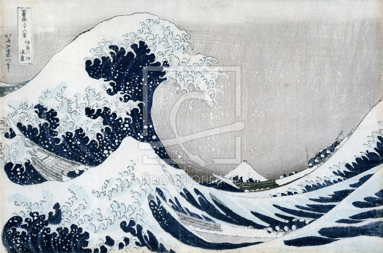 Bild-Nr.: 31001539 The Great Wave of Kanagawa, from the series '36 Views of Mt. Fuji' erstellt von Hokusai, Katsushika