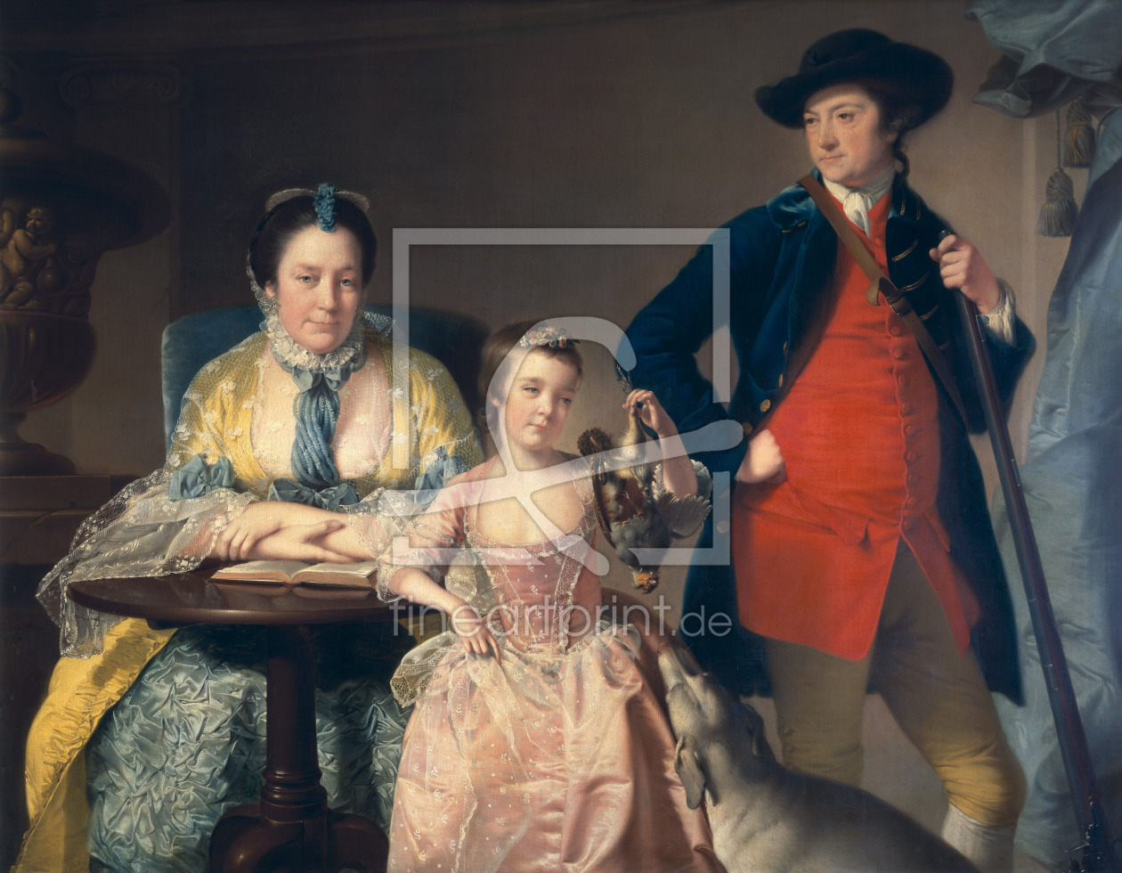 Bild-Nr.: 31001602 James and Mary Shuttleworth with one of their Daughters, 1764 erstellt von Wright of Derby, Joseph