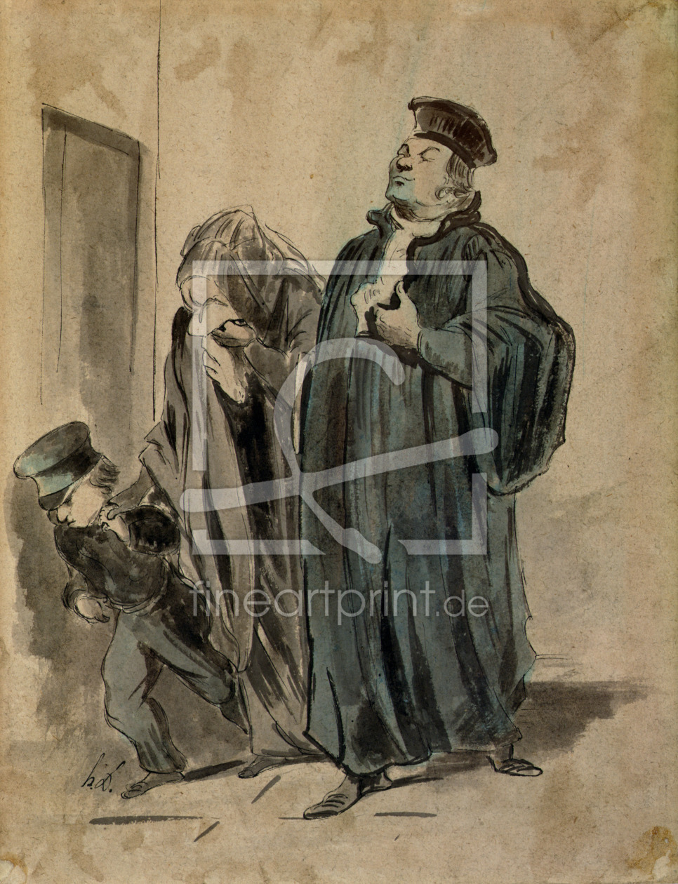 Bild-Nr.: 31001616 Judge, Woman and Child erstellt von Daumier, Honore