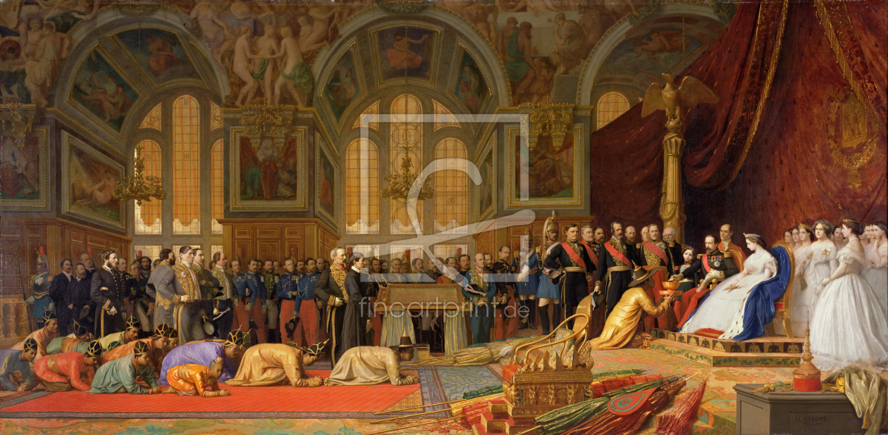 Bild-Nr.: 31001631 The Reception of Siamese Ambassadors by Emperor Napoleon III at the Palace of Fo erstellt von Gerome, Jean Leon