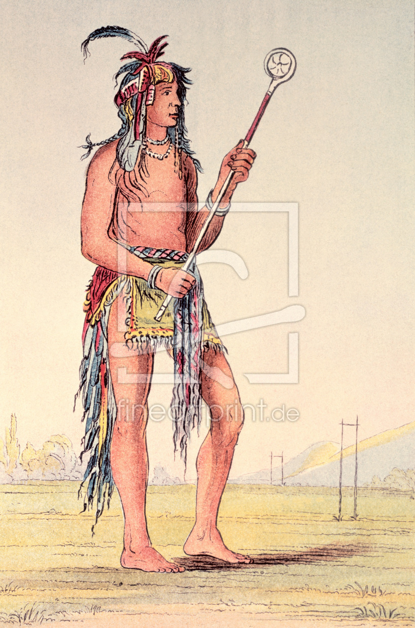 Bild-Nr.: 31001705 Sioux ball player Ah-No-Je-Nange, 'He who stands on both sides' erstellt von Catlin, George