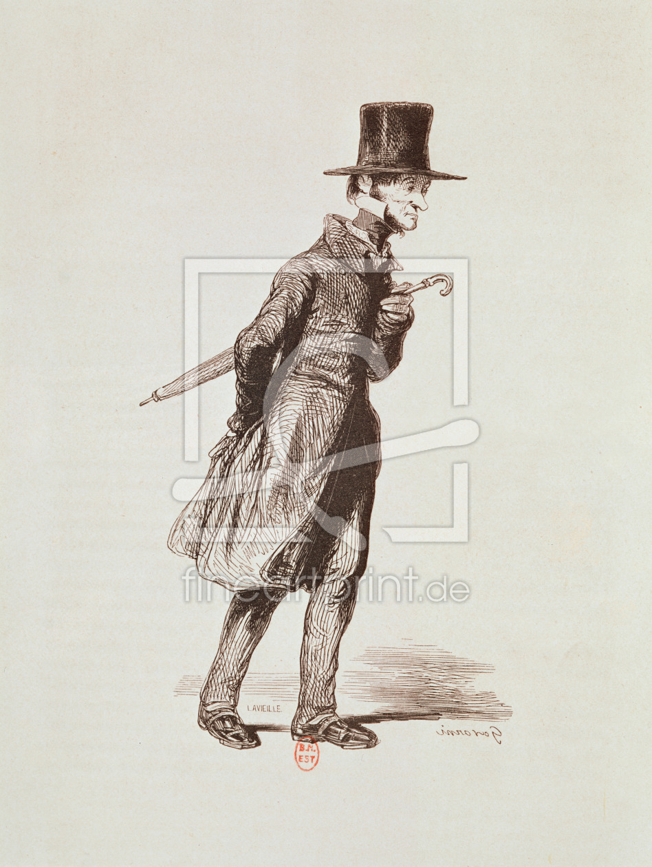 Bild-Nr.: 31001735 The Employee, from 'Les Francais peints par eux-memes', engraved by Guillaumot,  erstellt von Gavarni, Paul