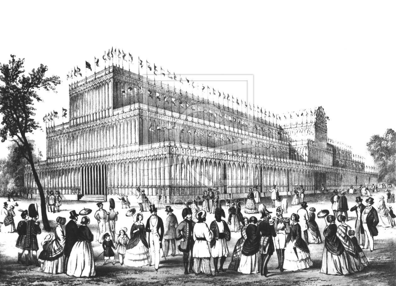 Bild-Nr.: 31001979 View of the Exterior of the Crystal Palace, built for the Great Exhibition of 18 erstellt von Anonyme Künstler