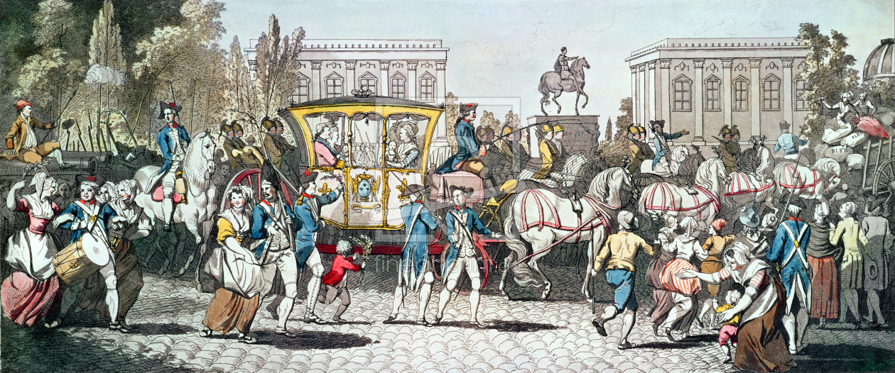 Bild-Nr.: 31002018 The Entry of Louis XVI into Paris, 6th October 1789 erstellt von Anonyme Künstler