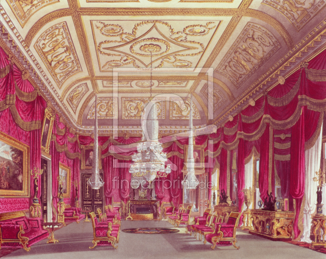 Bild-Nr.: 31002058 The Crimson Drawing Room, Carlton House from Pyne's 'Royal Residences', 1818 erstellt von Pyne, William Henry