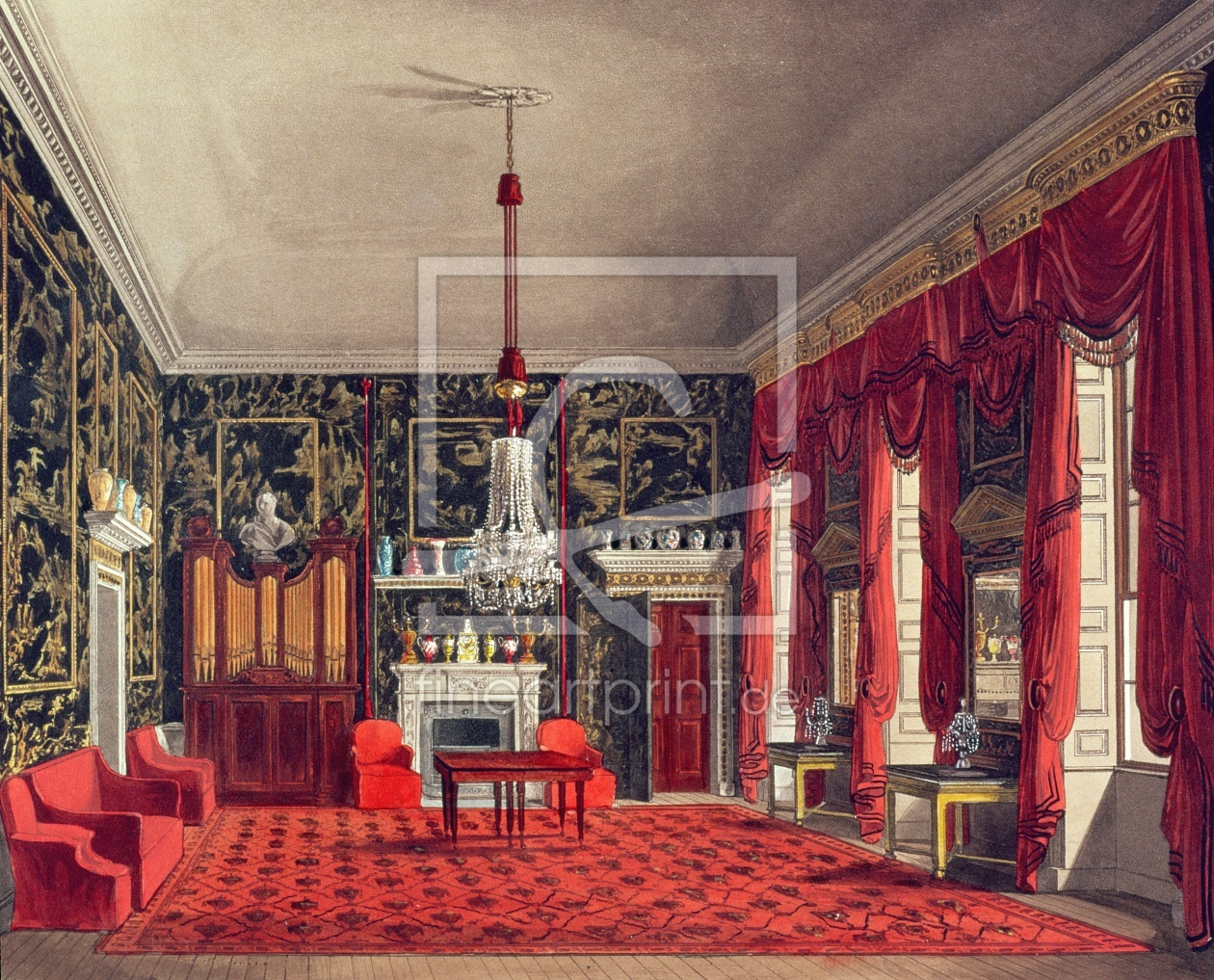 Bild-Nr.: 31002059 The Queen's Breakfast Room, Buckingham House, engraved by Daniel Havell from 'Th erstellt von Pyne, William Henry