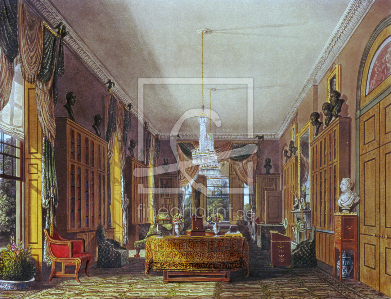 Bild-Nr.: 31002060 The Queen's Library, Frogmore, Pyne's 'Royal Residences', 1818 erstellt von Pyne, William Henry