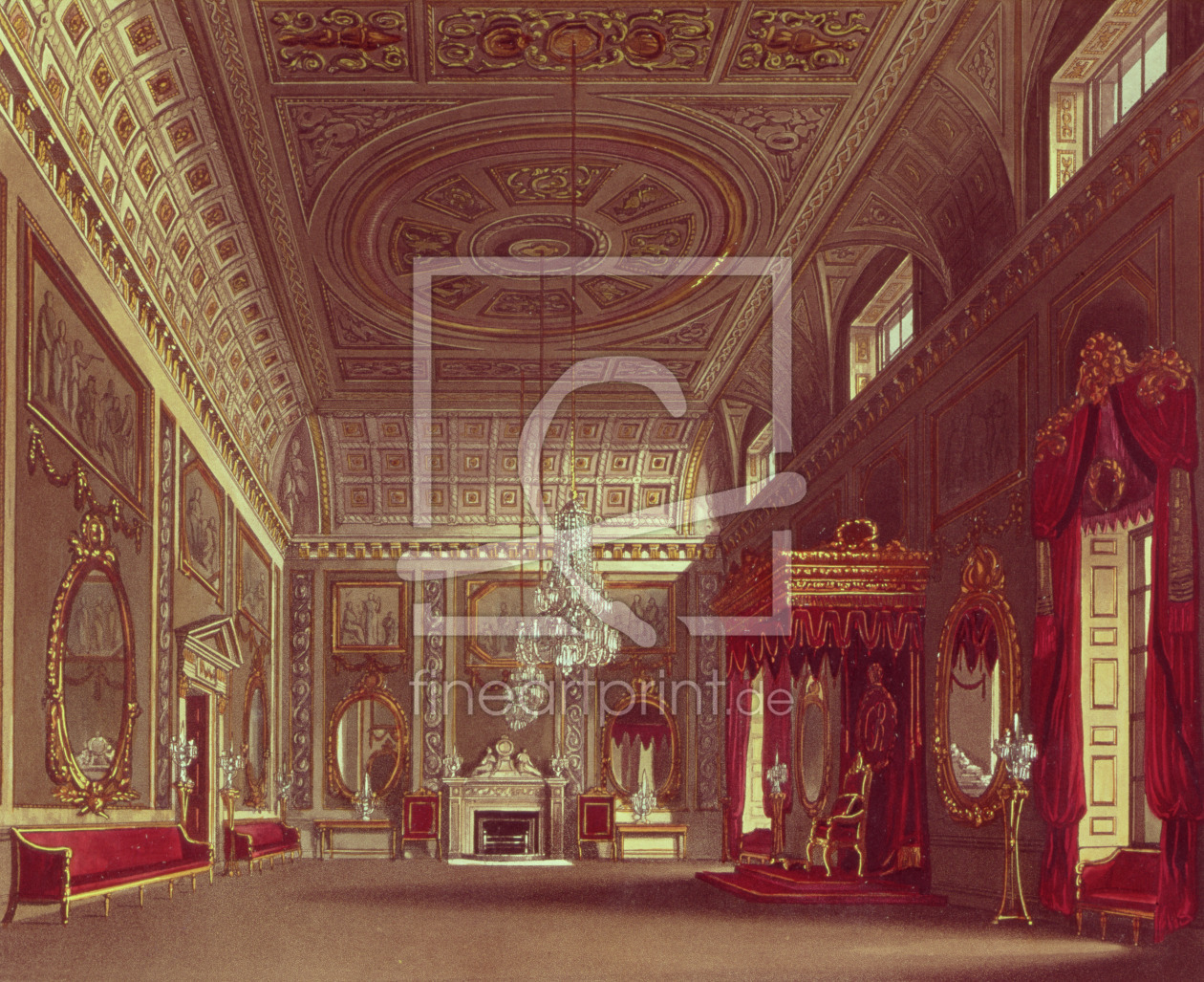 Bild-Nr.: 31002061 The Saloon, Buckingham Palace from Pyne's 'Royal Residences', 1818 erstellt von Pyne, William Henry