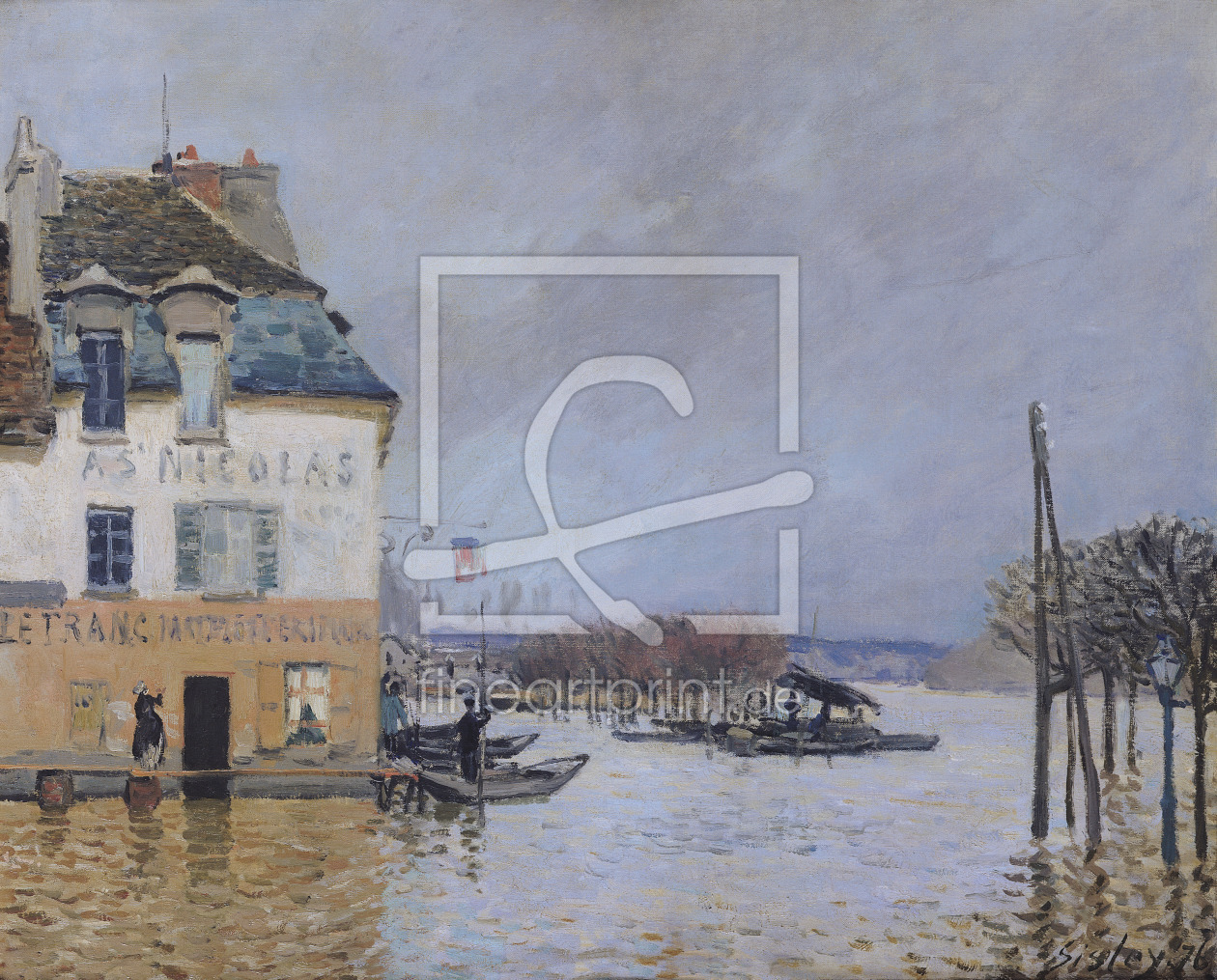 Bild-Nr.: 31002098 The Flood at Port-Marly, 1876 erstellt von Sisley, Alfred