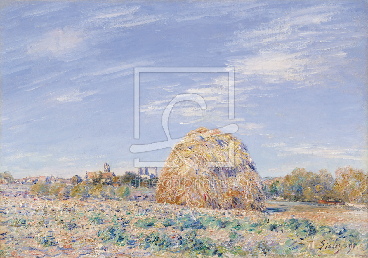 Bild-Nr.: 31002100 Haystack on the Banks of the Loing, 1891 erstellt von Sisley, Alfred