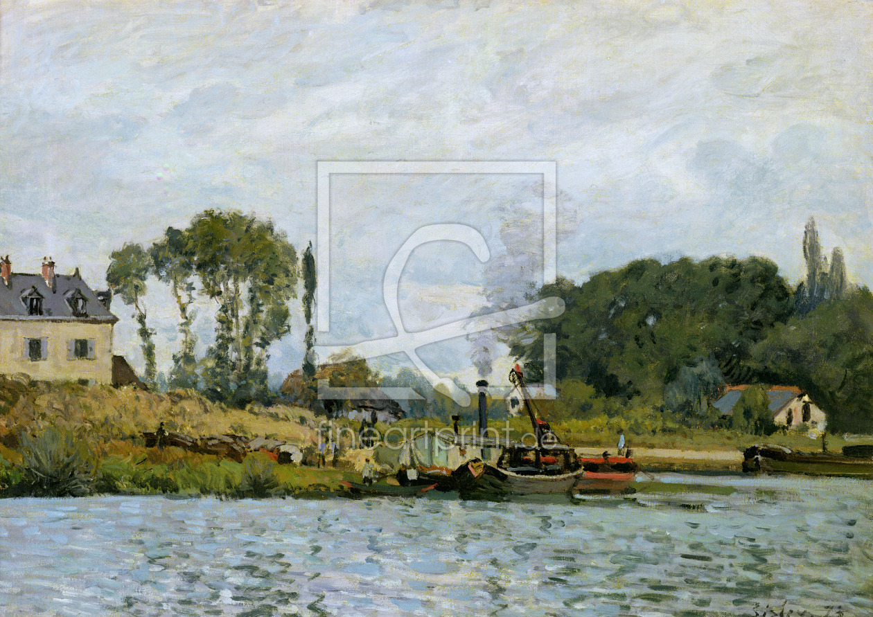 Bild-Nr.: 31002105 Boats at the lock at Bougival, 1873 erstellt von Sisley, Alfred
