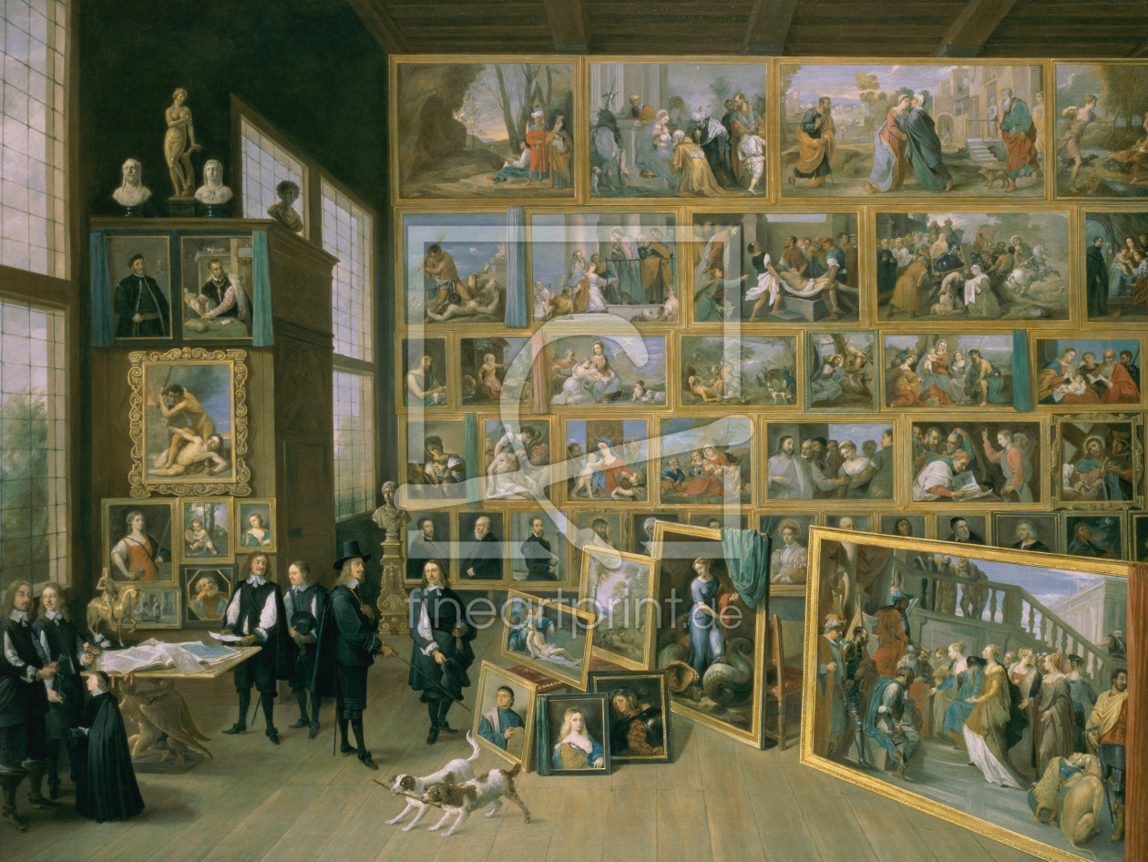 Bild-Nr.: 31002115 The Archduke Leopold Wilhelm in his Picture Gallery in Brussels, 1651 erstellt von Teniers, David the Younger