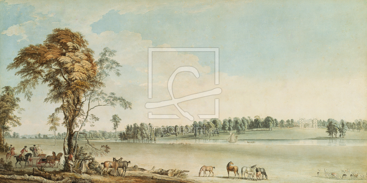 Bild-Nr.: 31002119 North West View of Wakefield Lodge in Whittlebury Forest, Northamptonshire, 1767 erstellt von Sandby, Paul