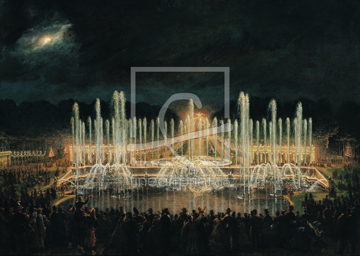 Bild-Nr.: 31002125 Illuminated Fountain Display in the Bassin de Neptune in Honour of Prince Franci erstellt von Lami, Eugene-Louis
