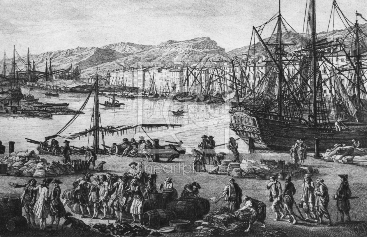 Bild-Nr.: 31002252 Old Port of Toulon, seen from the quartermaster's stores, series of 'Les Ports d erstellt von Vernet, Claude Joseph