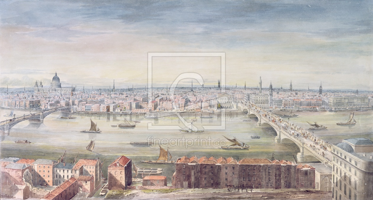 Bild-Nr.: 31002287 A View of London from St. Paul's to the Custom House, 1837 erstellt von Yates, Gideon