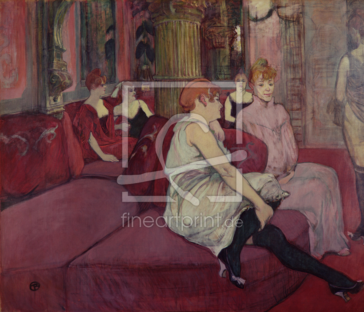 Bild-Nr.: 31002313 In the Salon at the Rue des Moulins, 1894 erstellt von Toulouse-Lautrec, Henri de