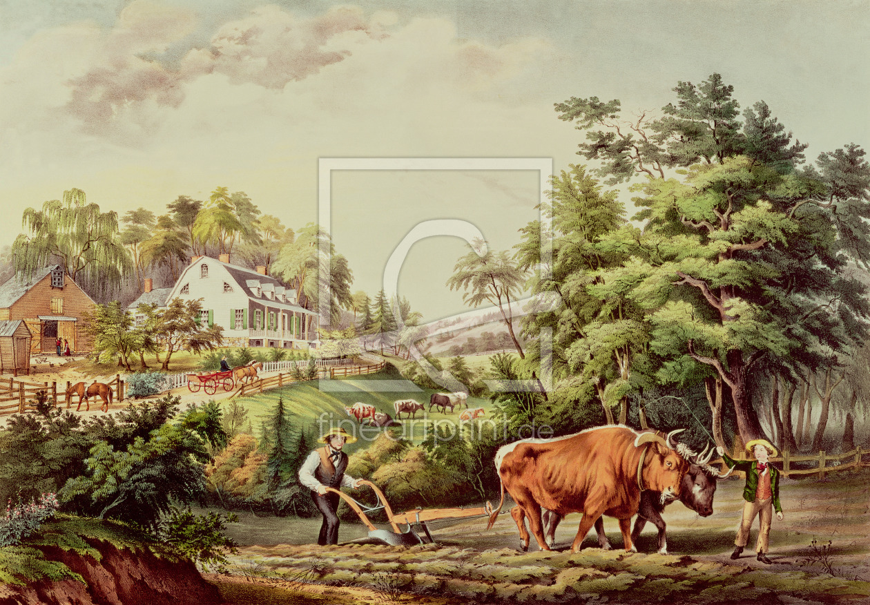 Bild-Nr.: 31002429 American Farm Scenes, engraved by Nathaniel Currier pub. by Currier and Ives, Ne erstellt von Palmer, Frances Flora Bond (Fanny)