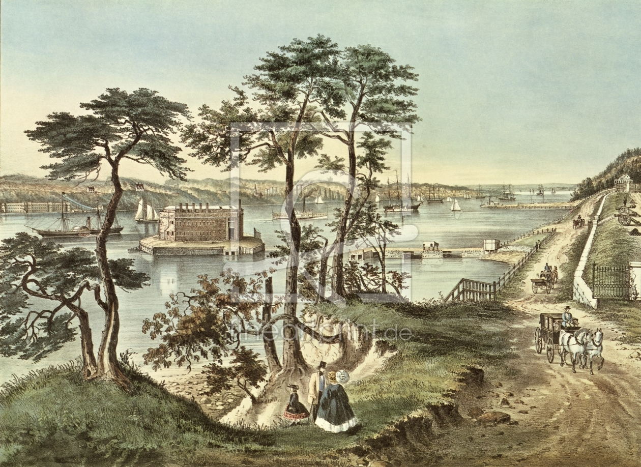 Bild-Nr.: 31002443 Staten Island and the Narrows from Fort Hamilton erstellt von Currier, Nathaniel and Ives, J.M.