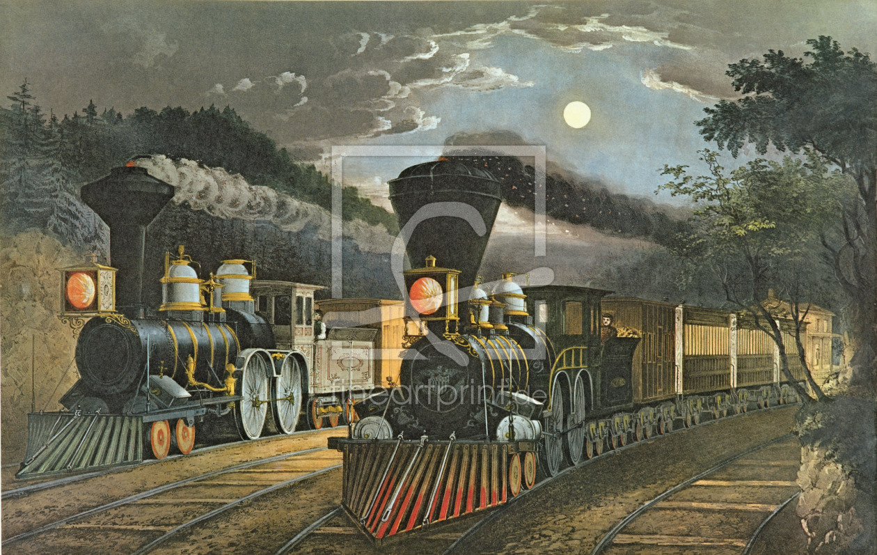 Bild-Nr.: 31002449 The Lightning Express Trains, 1863 erstellt von Currier, Nathaniel and Ives, J.M.