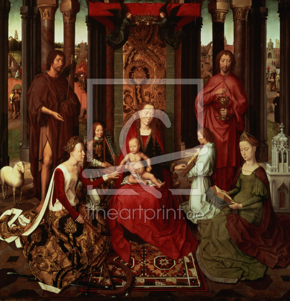Bild-Nr.: 31002500 Mystic Marriage of St. Catherine and Other Saints erstellt von Memling, Hans