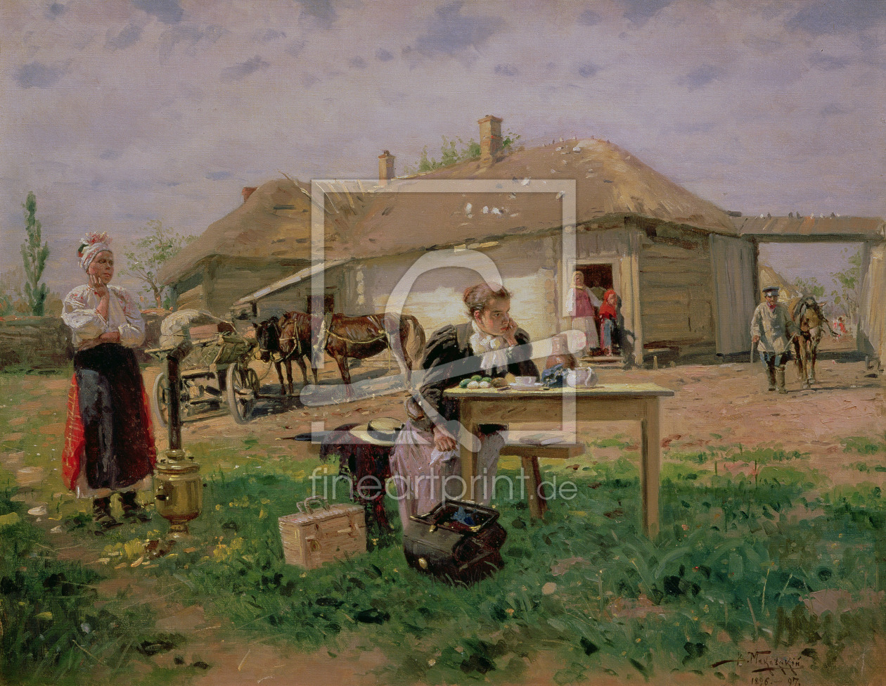 Bild-Nr.: 31002588 Arrival of a School Mistress in the Countryside, 1897 erstellt von Makovsky, Vladimir Egorovic