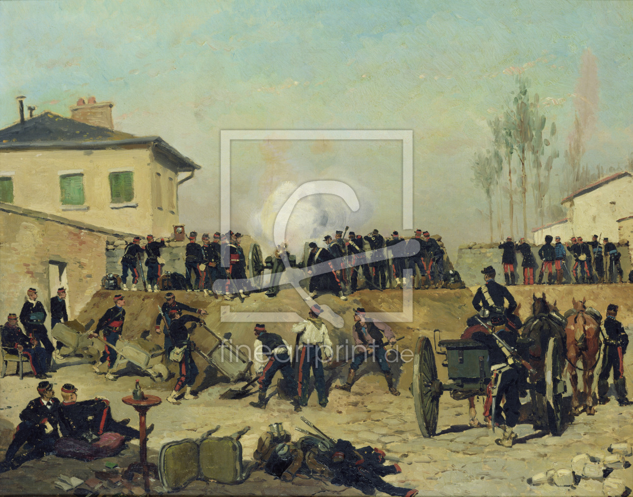 Bild-Nr.: 31002610 The Battle of Villejuif, Siege of Paris, 1870 erstellt von Detaille, Jean-Baptiste Edouard