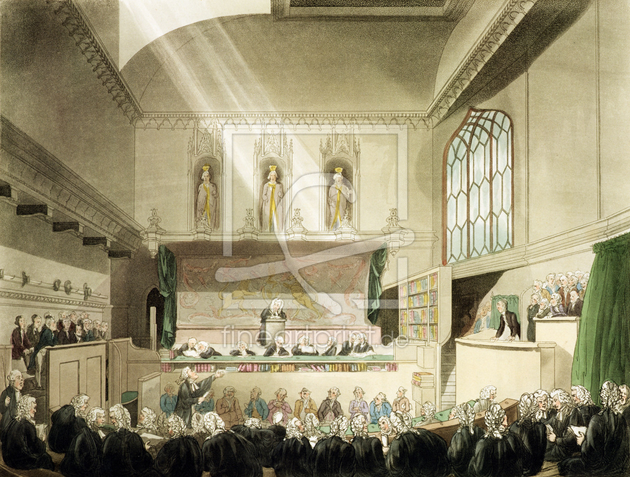 Bild-Nr.: 31002637 Court of King's Bench, Westminster Hall, from 'The Microcosm of London', engrave erstellt von Rowlandson, Thomas