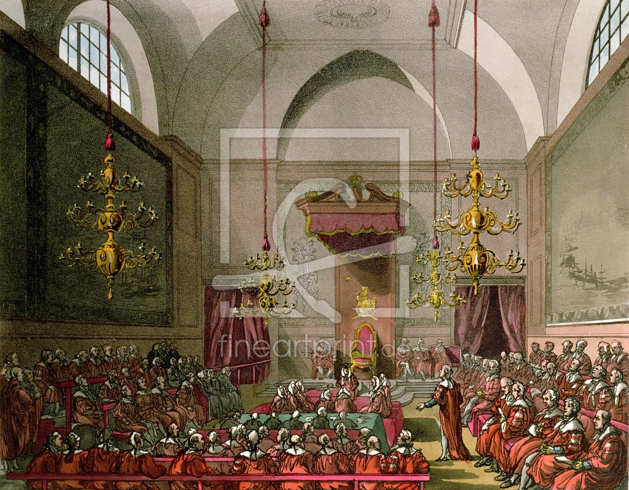 Bild-Nr.: 31002638 House of Lords from Ackermann's 'Microcosm of London' erstellt von Rowlandson, Thomas