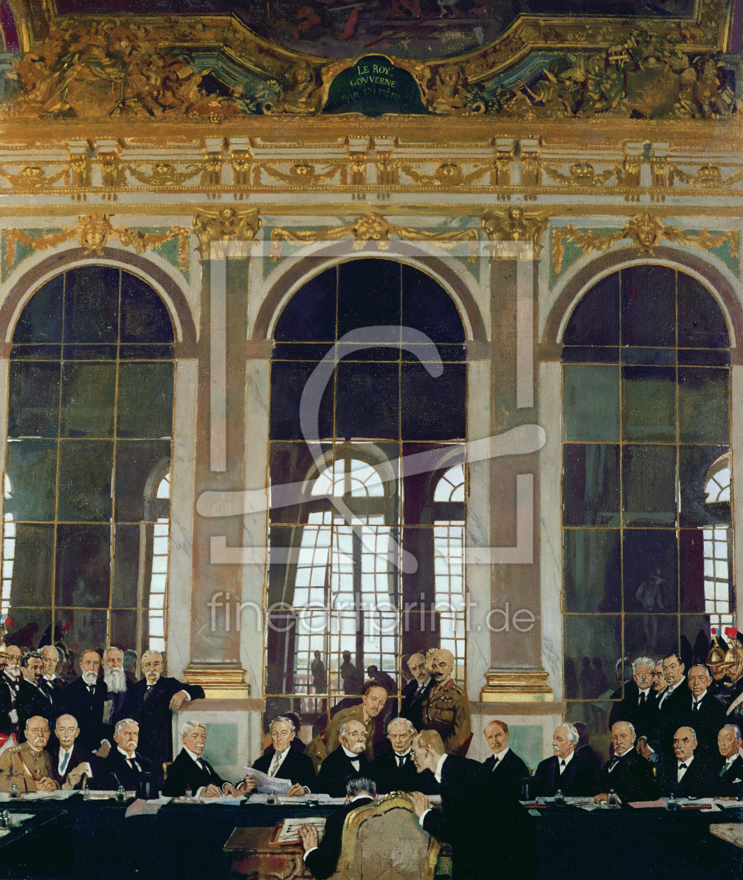 Bild-Nr.: 31002789 The Signing of Peace in the Hall of Mirrors, Versailles, 28th June 1919, 1919 erstellt von Orpen, Sir William