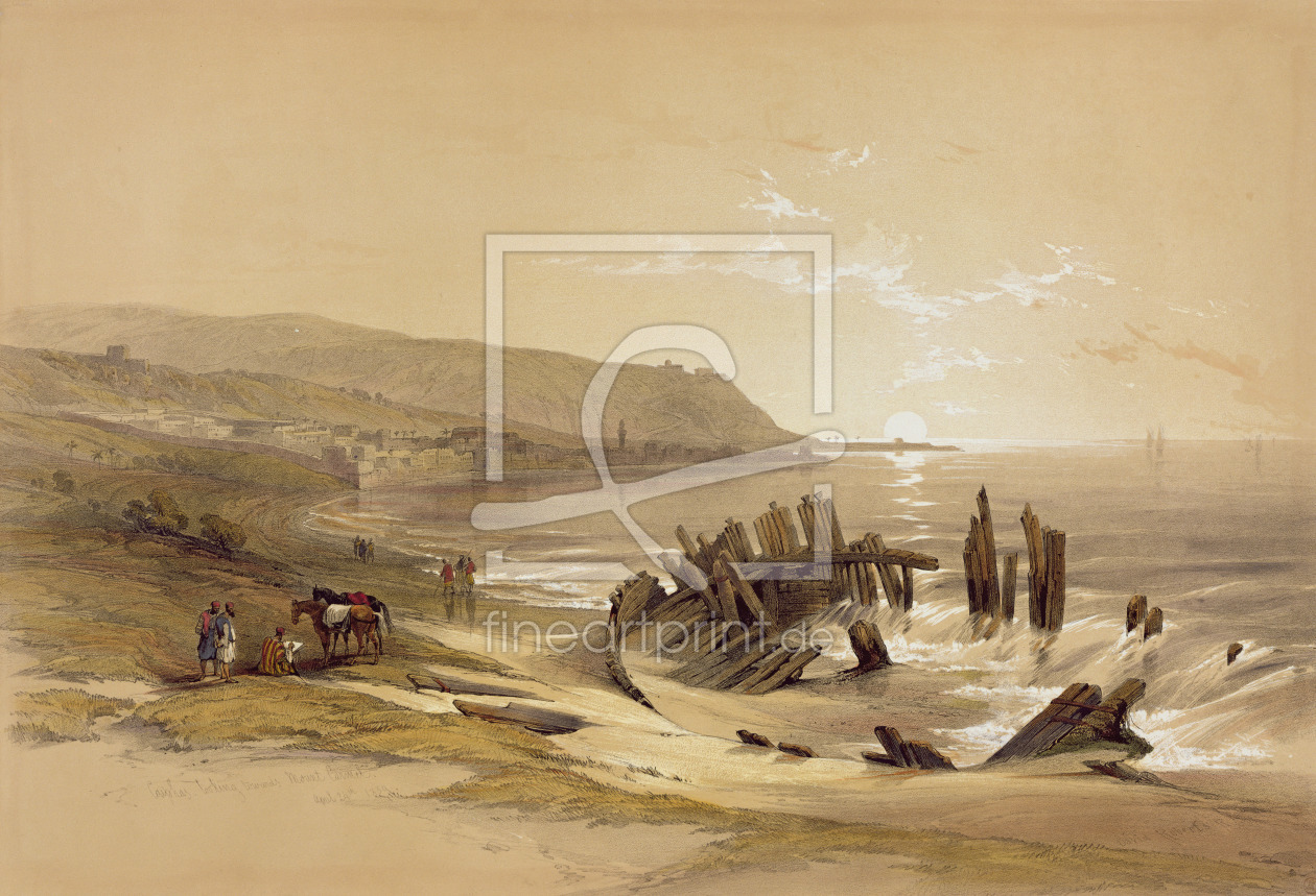 Bild-Nr.: 31002795 Caiphas looking towards Mount Carmel 24th April 1839, from Volume II 'The Holy L erstellt von Roberts, David