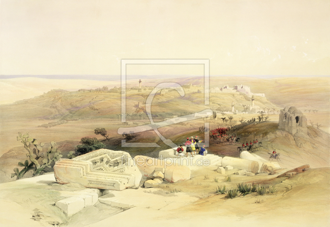 Bild-Nr.: 31002797 Gaza, March 21st 1839, plate 59 from Volume II of 'The Holy Land', engraved by L erstellt von Roberts, David