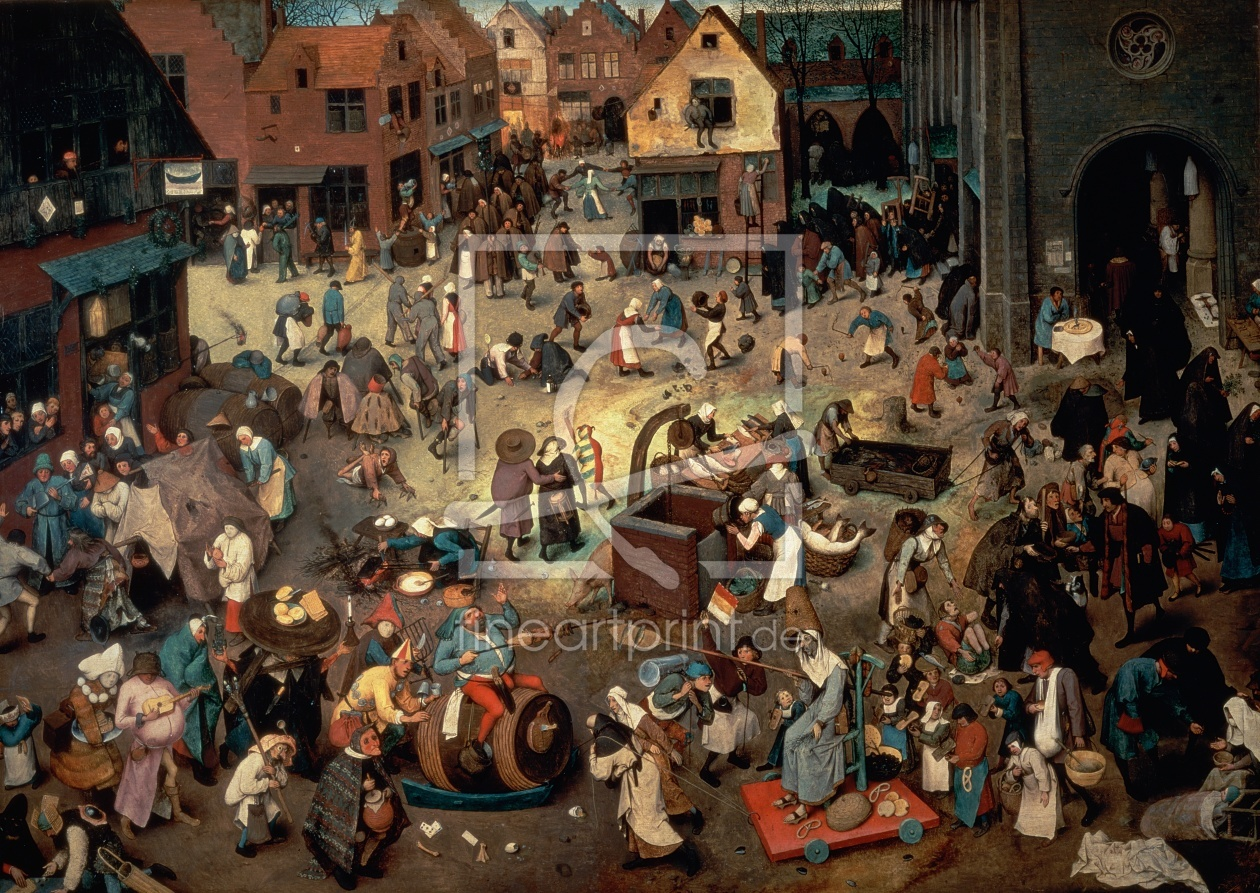 Bild-Nr.: 31002846 Fight between Carnival and Lent, 1559 erstellt von Bruegel, Pieter the Elder