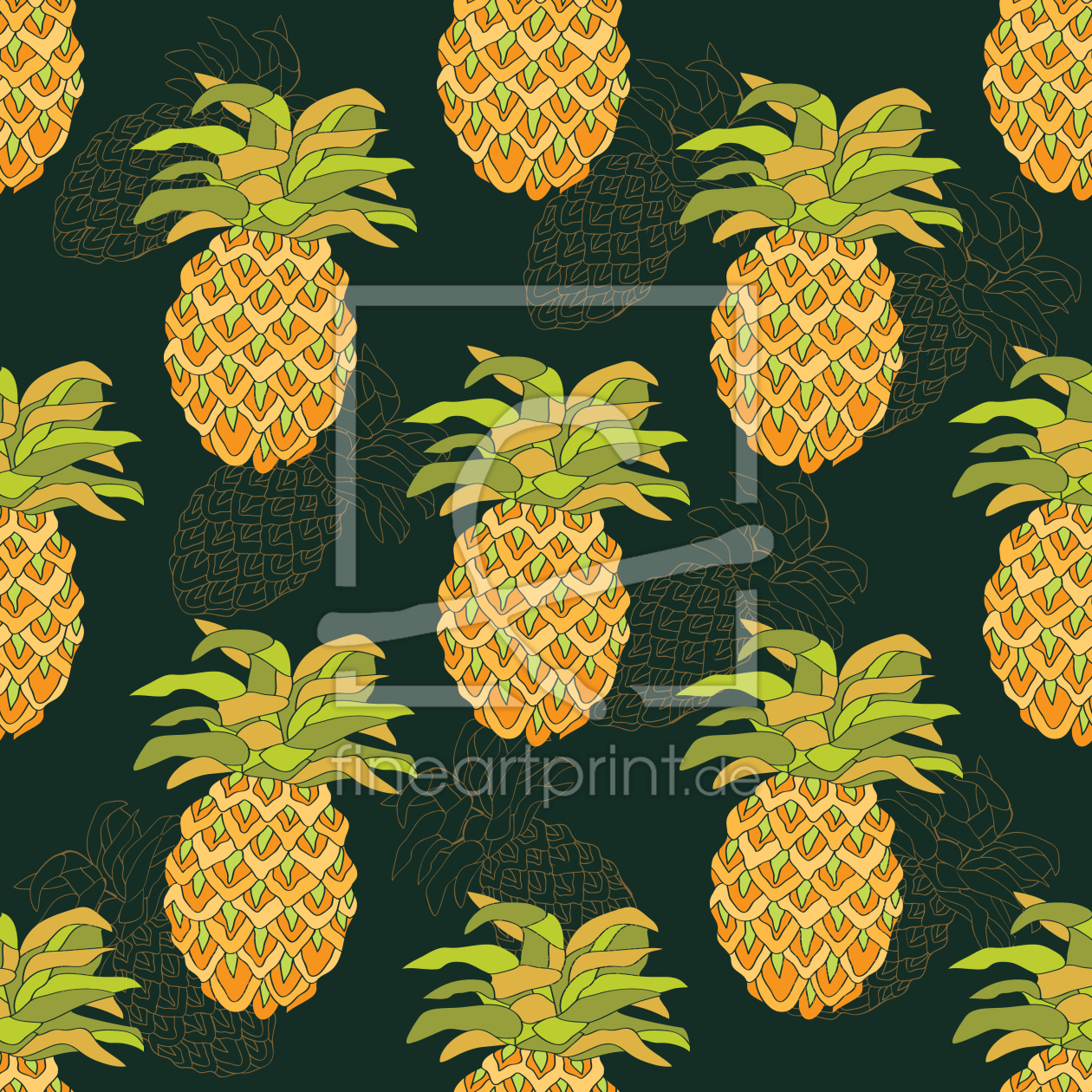 reife ananas als tischaufsteller von patterndesigns co. Black Bedroom Furniture Sets. Home Design Ideas