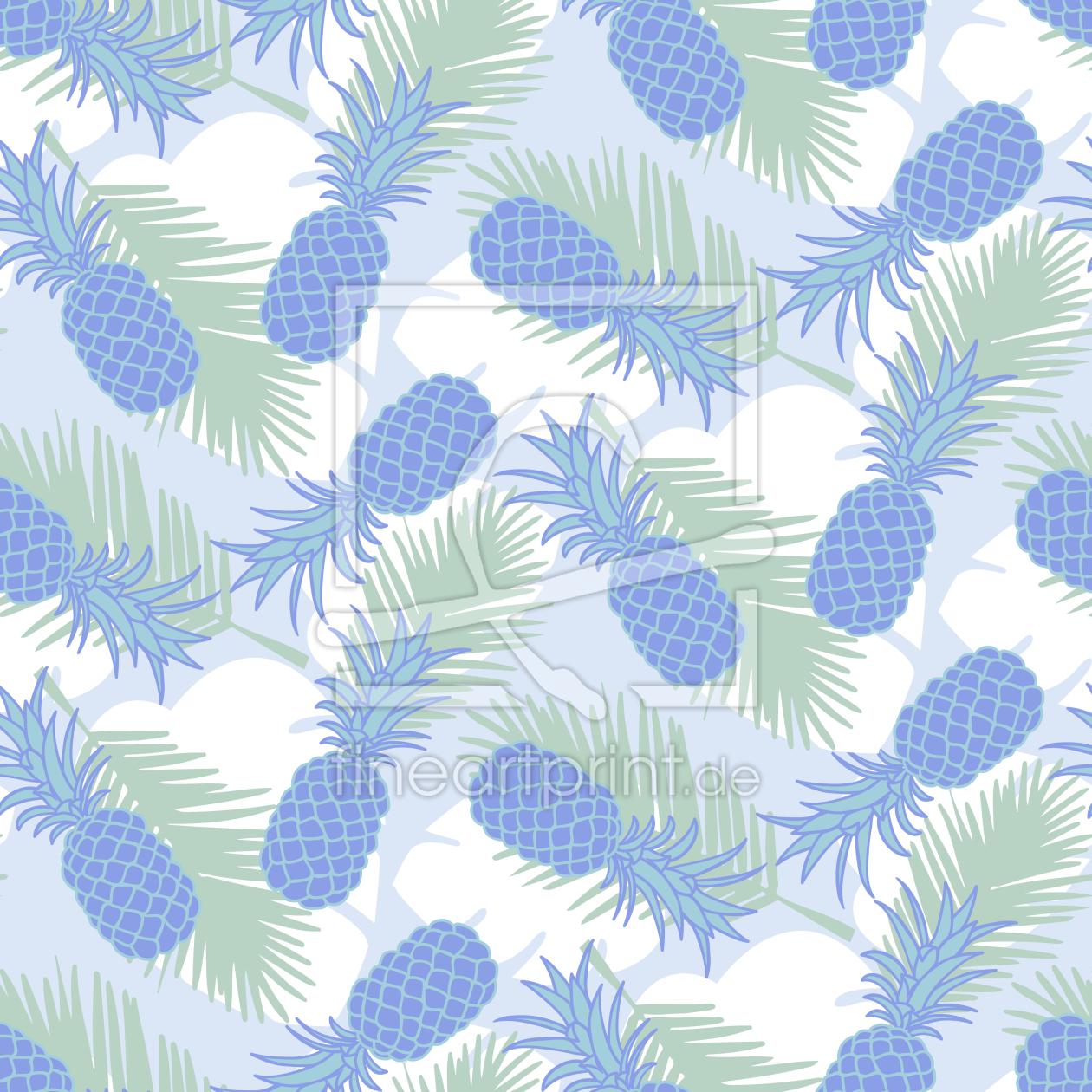 ananas und palmenbl tter als tasse von patterndesigns. Black Bedroom Furniture Sets. Home Design Ideas