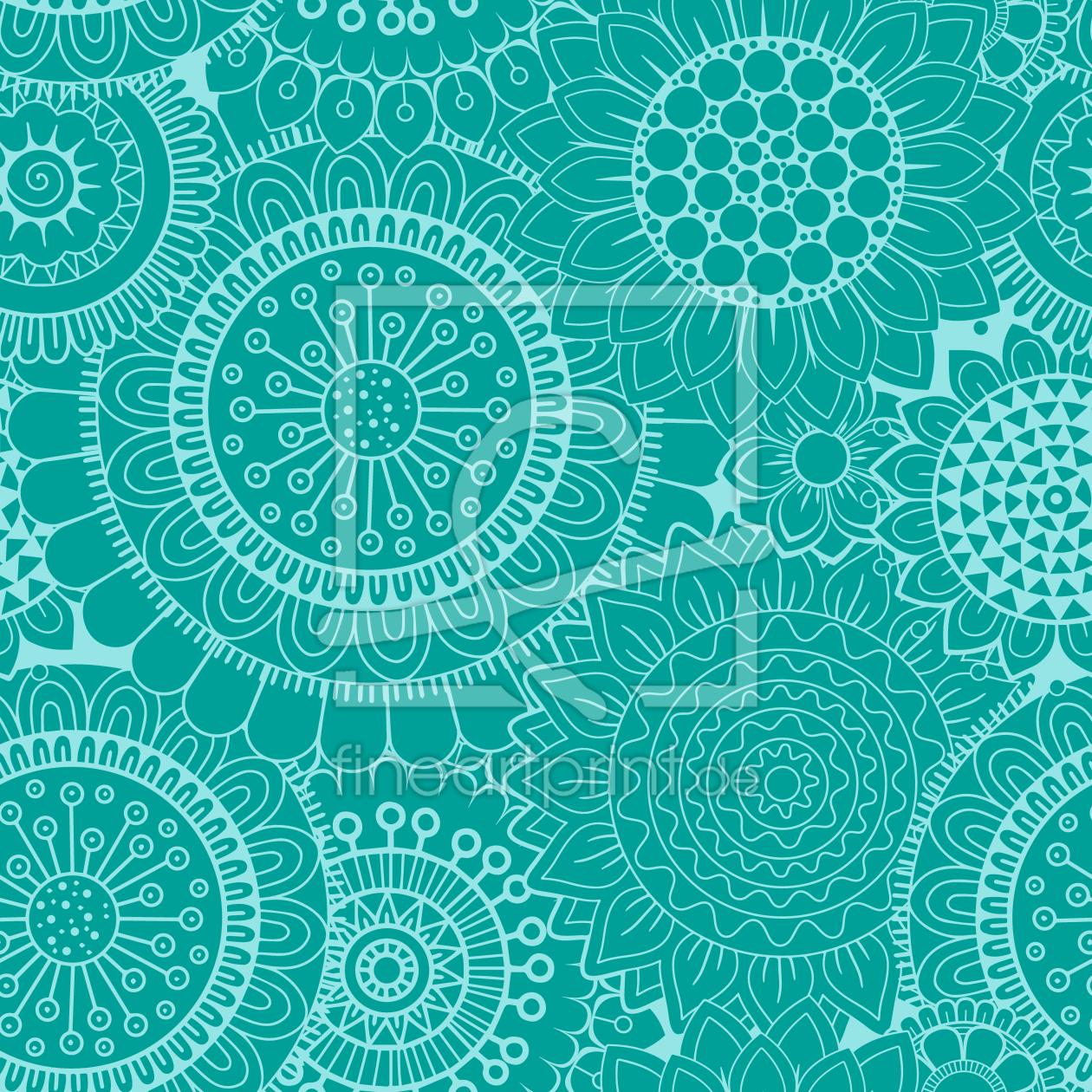 mosaik flower power als kissen von patterndesigns co. Black Bedroom Furniture Sets. Home Design Ideas