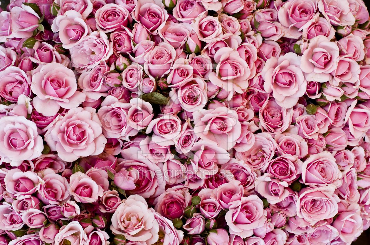 Rosenstrauß als leinwand von danielschoenen erhältlich bei fine ...