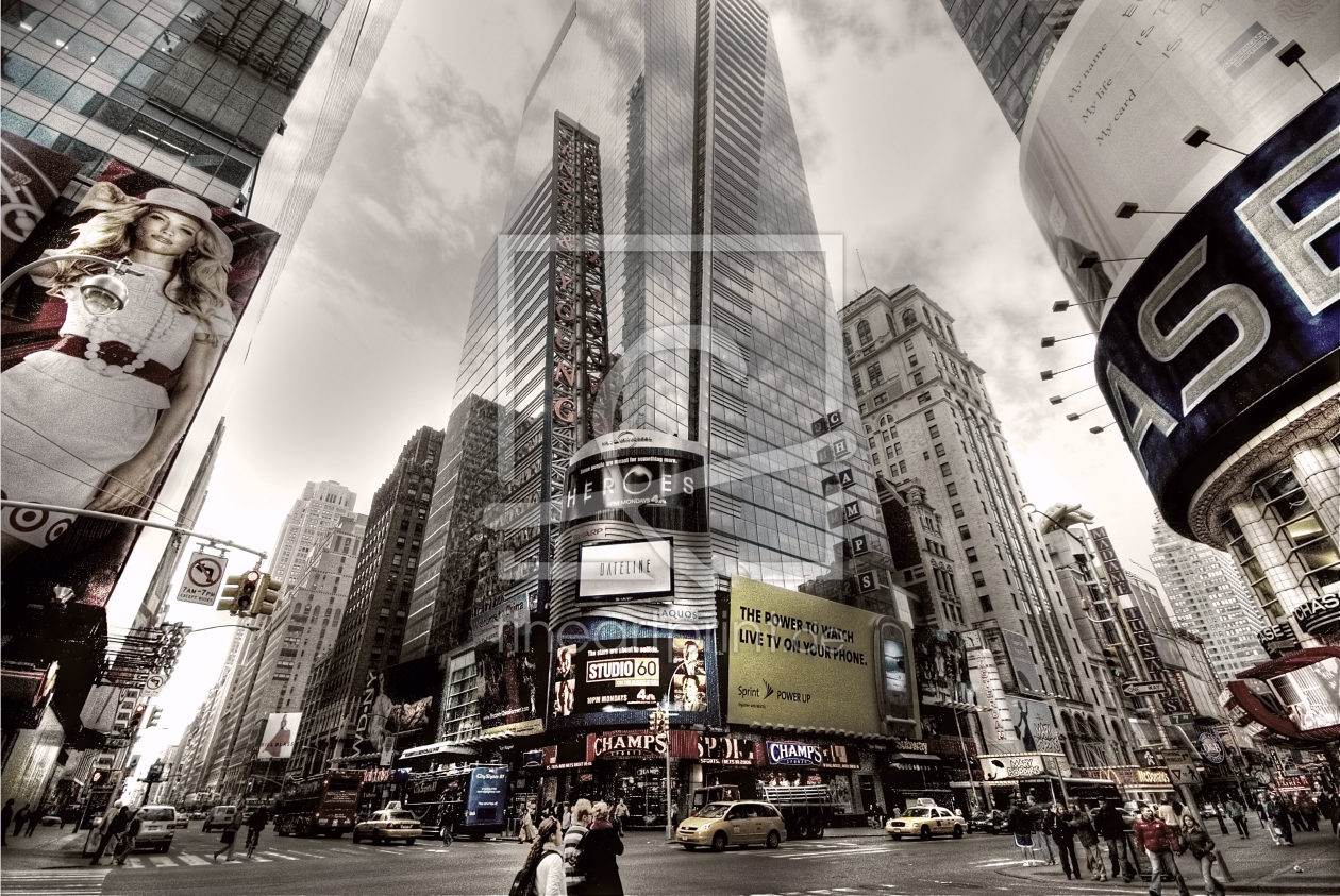 times square als leinwand von feldmann dr michael. Black Bedroom Furniture Sets. Home Design Ideas