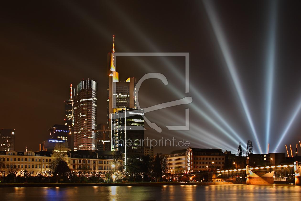 frankfurt skyline luminale 2008 als leinwand von dev. Black Bedroom Furniture Sets. Home Design Ideas
