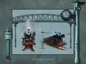 Collage Dampflokomotive in XXL Format/10373519