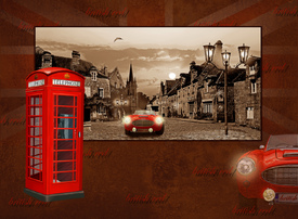 Collage british red mit englischer Telefonzelle/10430129