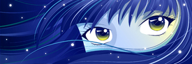 Moonie - blue-haired Manga Girl/10968026
