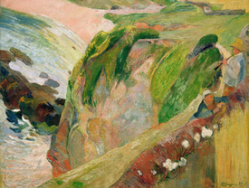 Bild-Nr: 30001740 Gauguin /Flut Player on th.Cliffs/ 1889 Erstellt von: Gauguin, Paul
