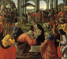 Bild-Nr: 30002218 Adoration of the Kings / Ghirlandaio Erstellt von: Ghirlandaio Domenico (Domenico Tommaso Bigordi)
