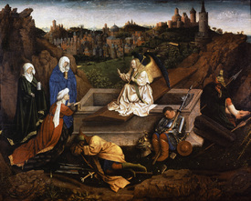 Bild-Nr: 30002600 Three Maries at the Grave / van Eyck Erstellt von: van Eyck, Hubert & Jan