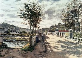 Bild-Nr: 30004020 Monet / The bridge of Bougival / 1870 Erstellt von: Monet, Claude